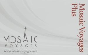 carte fidelite Mosaic Voyages PLUS